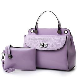 trendy women messenger bag, 2 pcs in 1set