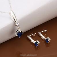 2015 Wholesale ladies 925 sterling silver polki jewelry set