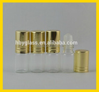 Small ball of glass bottles/cosmetic roll-on glass bottles with the gold cover