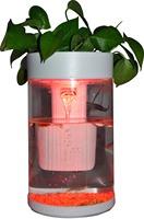 High quality 3L 6L acrylic cylindrical RGB light small aquarium water tank