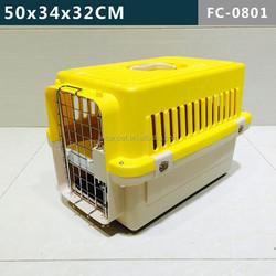 Plastic dog cage, dog carrier, dog flight kennel