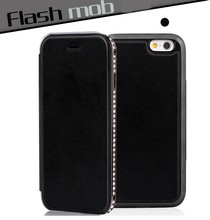 high quality leather cell phone carry case for iphone 6,wallet case for iphone