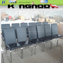 2015 new design modern style pu material chromed leg simple design dining chair