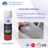Textile aerosol spray adhesive for clothing, fiber/garment spray adhesive