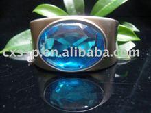 Ocean Blue Diamond Bangle