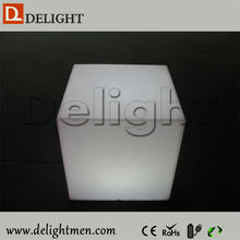 Commercial RGB color changing outdoor illuminated plastic mobile led illuminated cube seat with wireless