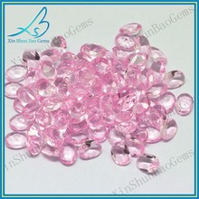 Small size pink glass gems oval cut loose gemstone for crafts
