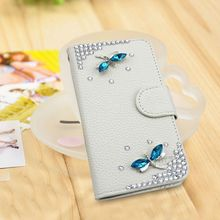 DIY 3D butterfly bling bling case diamond wallet case for Nokia Lumia 1090 535 cover