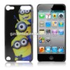 Popular cartoon despicable me plastic sublimation phone case for ipod touch 5