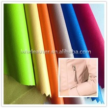 Elastic lichi pu leather material,garment leather,pu synthetic leather for garment DG503