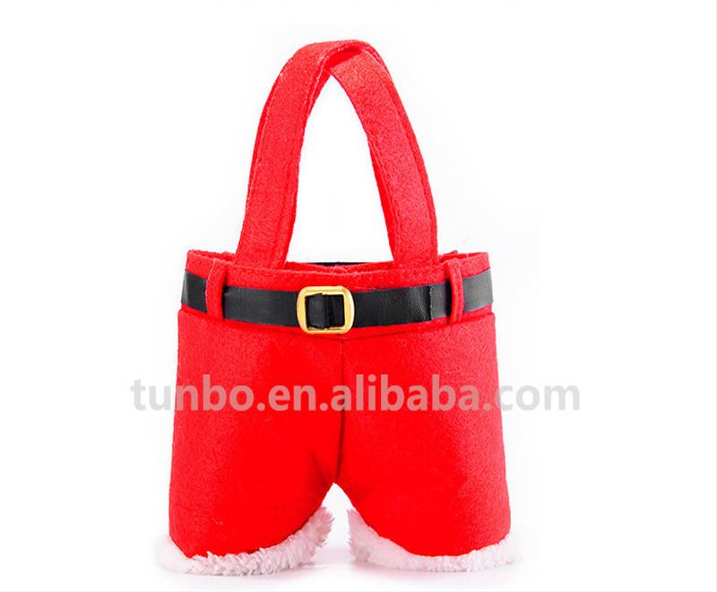 Felt gift bag santa pants candy bag christmas bag buy christmas bag