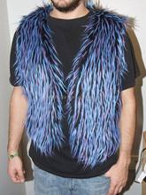 Long Pile Faux fake Fur Burner Vest