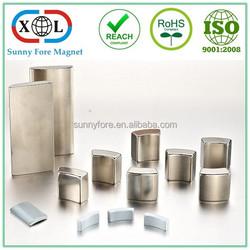 segment arc type industrial neodymium motor magnet