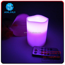 Party item Flameless wax dripping remote control led candles