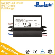 IP67 Grade 5W 12V Constant Voltage Led Driver with CE Certificate