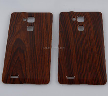 Wood film hydrographic metal mobile phone case
