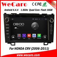"Wecaro android 4.4.4 car dvd touch screen 8"" for honda crv dvd player BT gps 3g TV 2006 - 2011"