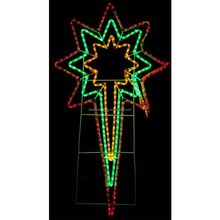 NEW Christmas LED Ropelight with Triple Nativity Star - Indoor/Outdoor Use