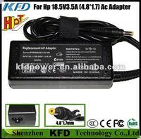 cargador netebook para HP 65W 18.5V 3.5A AC adaptador latop (Replacement for 463552-003)