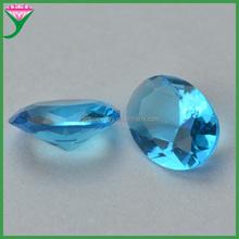 China manufacturer oval shape blue aquamarine glass gem decorate stone for jewelry