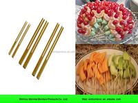 Bulk disposable bamboo fruit picks for BBQ
