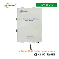 12v Rechargeable lithium ion 18650 battery box for solar street lights