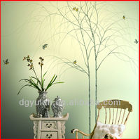Chinese Style Non-woven Hand Painted Wallpaper Artistic