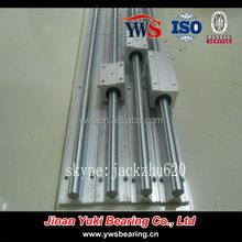 smooth linear guide 30MM cylindrical rails with support SBR30