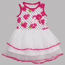 ( h4171) blanco 2-6y nova bebé niñas encaje fiesta de verano de venta al por mayor vestidos de niña vestido de flores