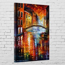 Bridge stone color painting on canvas