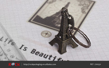 Custom metal hot sale tower black eiffel keychain supplier