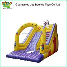 commercial mini inflatable durable new clown toboggan slide