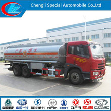 HIgh quality comfortable cabin18cbm oil truck FAW 3alxs Diesel oil tanker truck hot selling fuel tanker truck for sale