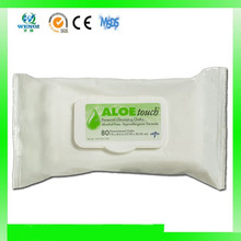Alcohol free Adult patient wipes with aloe