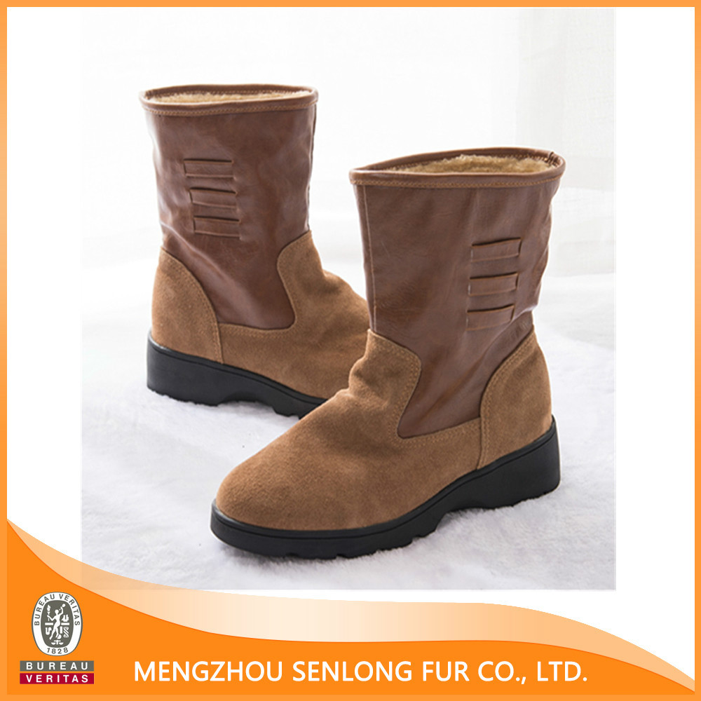cheap and warming genuine sheepskin snow boots buy snow