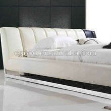 Bedroom furniture leather china low bed AY277-1