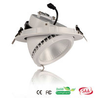 aluminum led gimble light ceiling down lamp with 3 years warranty CE SAA Rohs