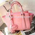china fornecedor barato bolsa de couro de imitação rosa mulher