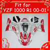 Motorcycle body parts for YZF R1 2000 2001, Cheap and Hot sale Silver/Red