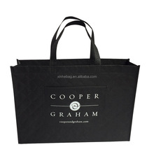 Promotional laser film laminated embossed non woven tote bag