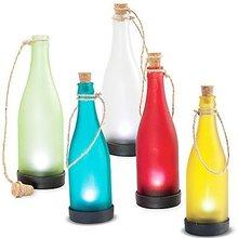 Hanging solar garden lamp glass candle lantern set