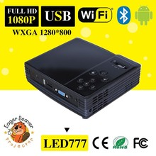Low cost android projector 777 Mini DLP Projector with Wifi bluetooth function for personal projector