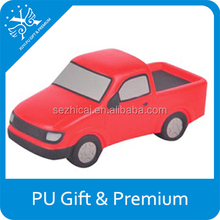 red car shaped pu stress ball kids soft pu toy cars top quality for pu stress car