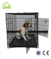 High quality dog cage from manufacture Safety Folding Big dog cage Pet Dog Crate