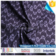 2015Grey Black Old Royal Style Printed Chiffon Fabric For Garment