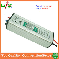 12vdc 24vdc waterproof 300ma constant current 10W to 25W led driver for led light power supply