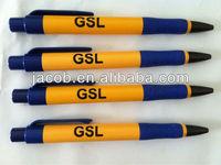 cheap price yellow ballpoint pen manufacturers print logo 1000pcs free shipping