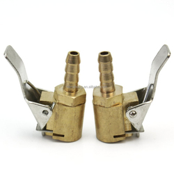 2 pcs Useful Auto Car Tire Inflator Valve Air Chuck Connector 6mm Brass Clip On