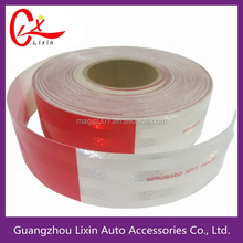 $12/roll on sale waterproof China red white infrared reflective tape, truck reflective tape
