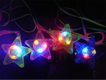 LED Glowing Little Star Necklace Flashing Hanging Light-up Kids Toys Birthday Concert Festvial Party Favors